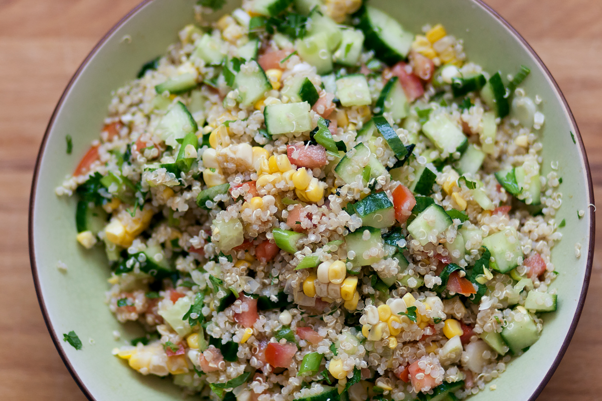 Quinoa Salad with Lemon and CuminVinaigrette