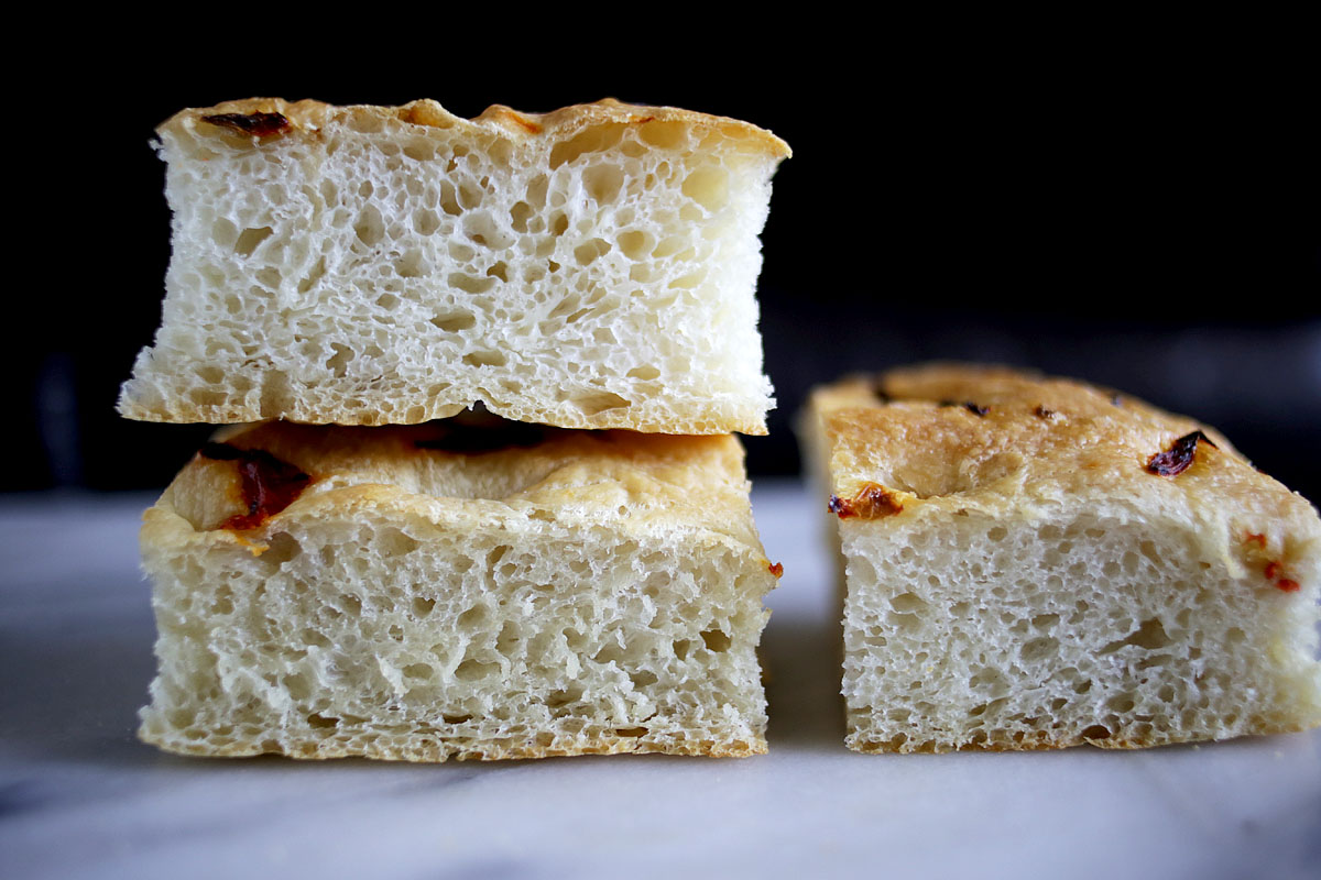 Easy Spicy Focaccia with Scotch BonnetPeppers